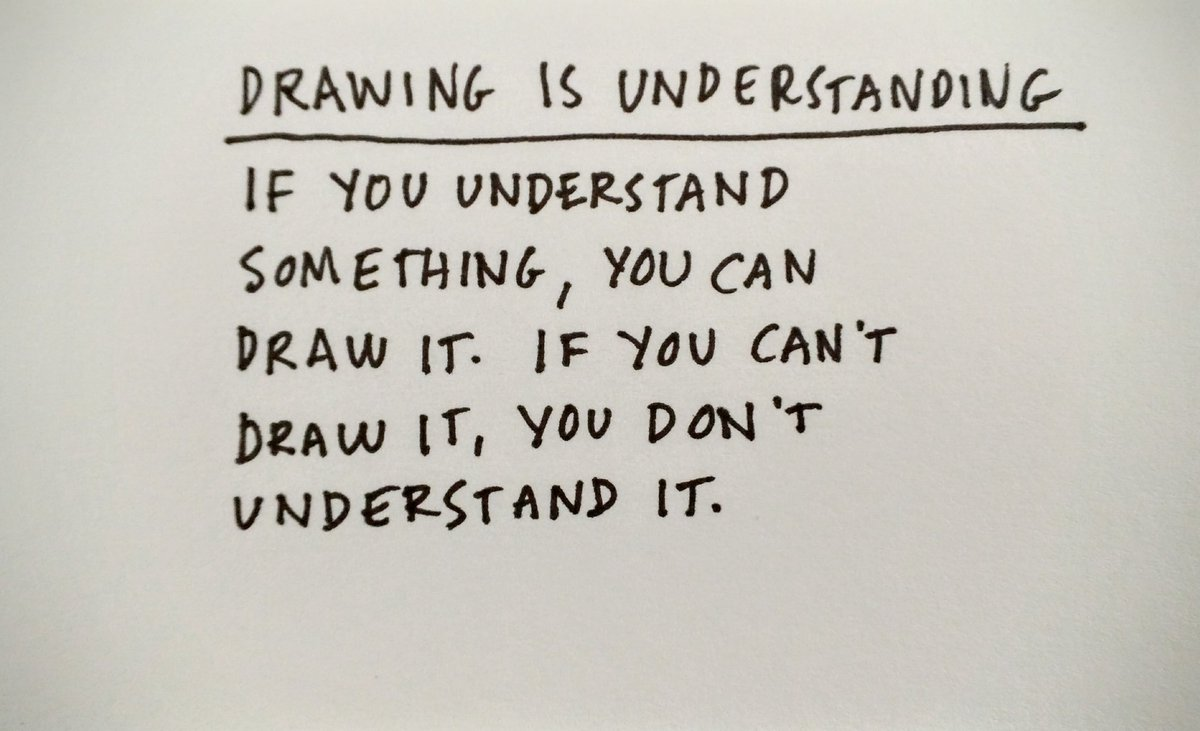 Drawing is understanding, and understanding is drawing. #visualthinking https://t.co/Qe9JAlFKIM