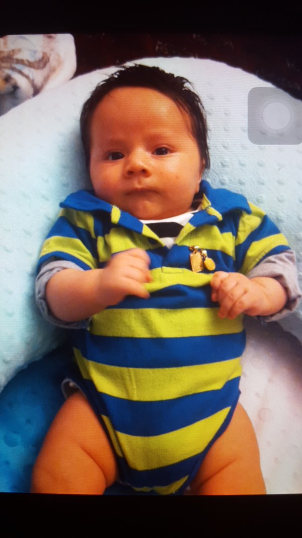 Police say this is the 3 month old baby that is missing #AMBERALERT https://t.co/kFPJj8p2Am