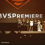 Tiny superheroes all in a row. And a director and stuff. #BVSPremiere https://t.co/wHcAk0WghQ