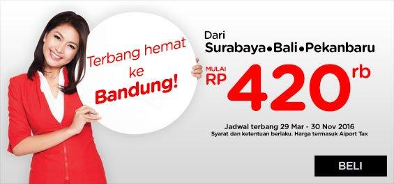 Pesan sekarang - 27 Mar 2016 di Terbang: 29 Mar - 30 Nov 2016! Kami tunggu di Bandung ya!