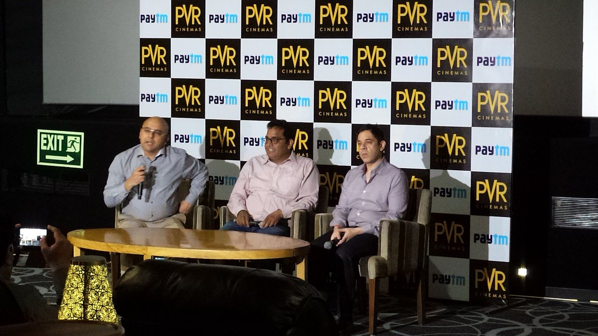 At PVR Director's Cut for @Paytm press meet. PVR is joining hands with Paytm for seamless movie ticketing experience https://t.co/zyaiRuj7X5