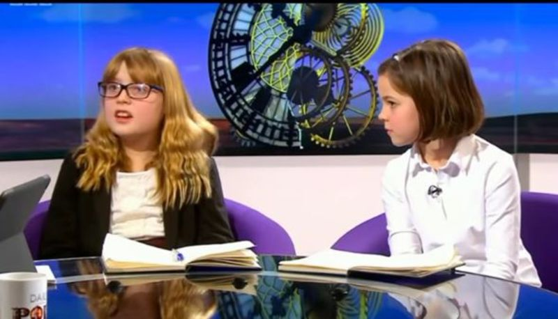WATCH: 10 year old girls SLAM BBC's Andrew Neil over