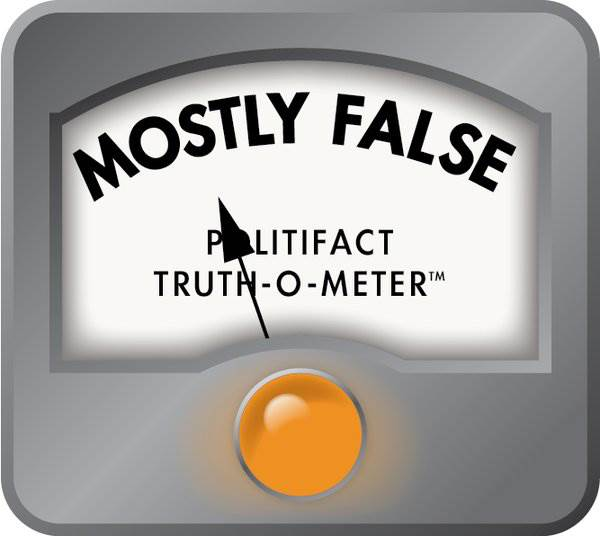 """Clinton says majority of $ from small donations. @PolitiFact finds that """"mostly false."""" https://t.co/Ry4ewdv8Q0 https://t.co/mxOiVmm3yG"""