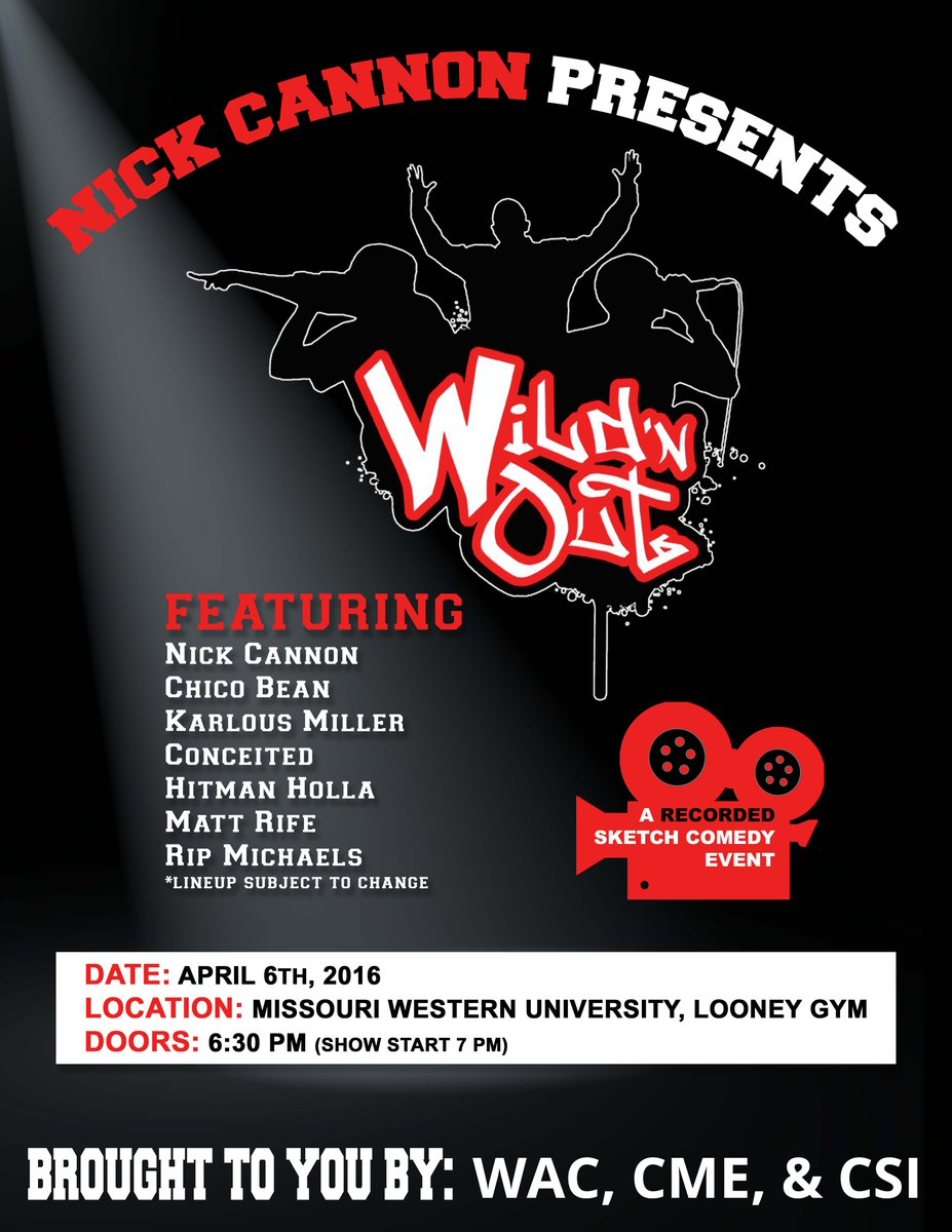 Nick Cannon's Wild 'N Out is coming to campus April 6! Enjoy the free show! https://t.co/FvzwcI0OmQ