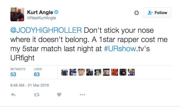 Kurt Angle vs. Riff Raff will be a top five wrestling match of 2016 if it happens. https://t.co/2oBXc8hdMC
