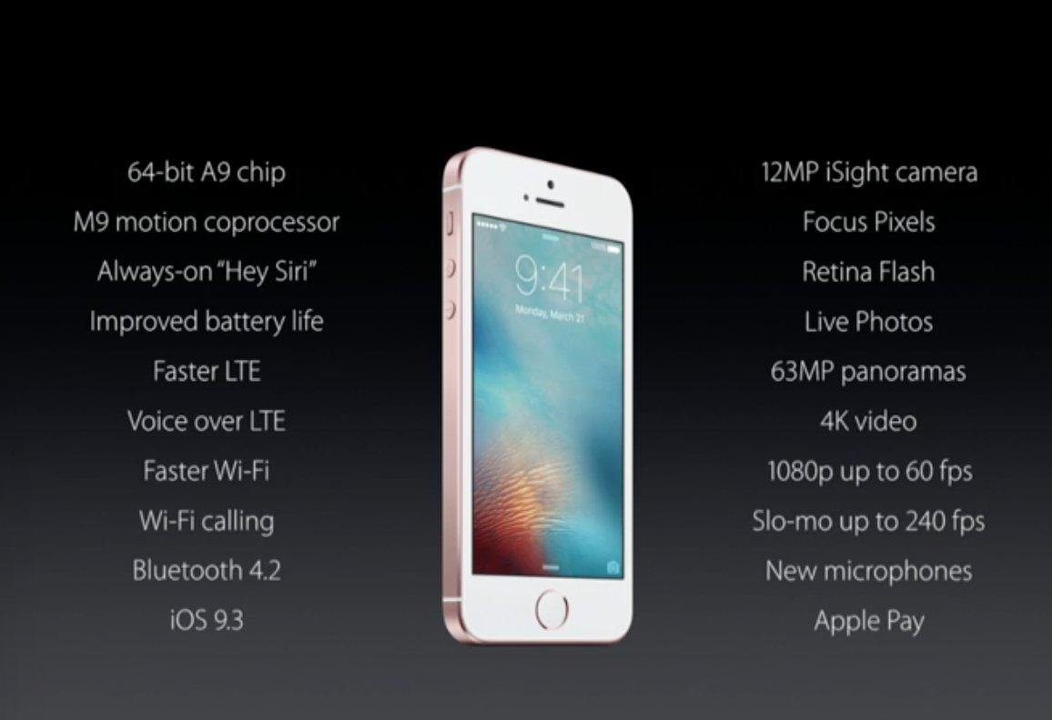 Confirmado o iPhone SE, o mais poderoso smartphone de 4 polegadas com preço a partir de U$399. #iPhoneSE https://t.co/rfGcX4d6I6