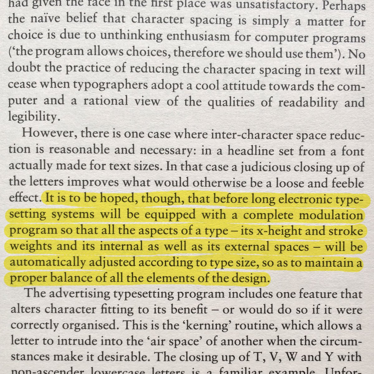 "Walter Tracy predicted responsive fonts in 1986, before the web was even a thing. (""Letters of Credit"", page 79) https://t.co/7i2I1W3I51"