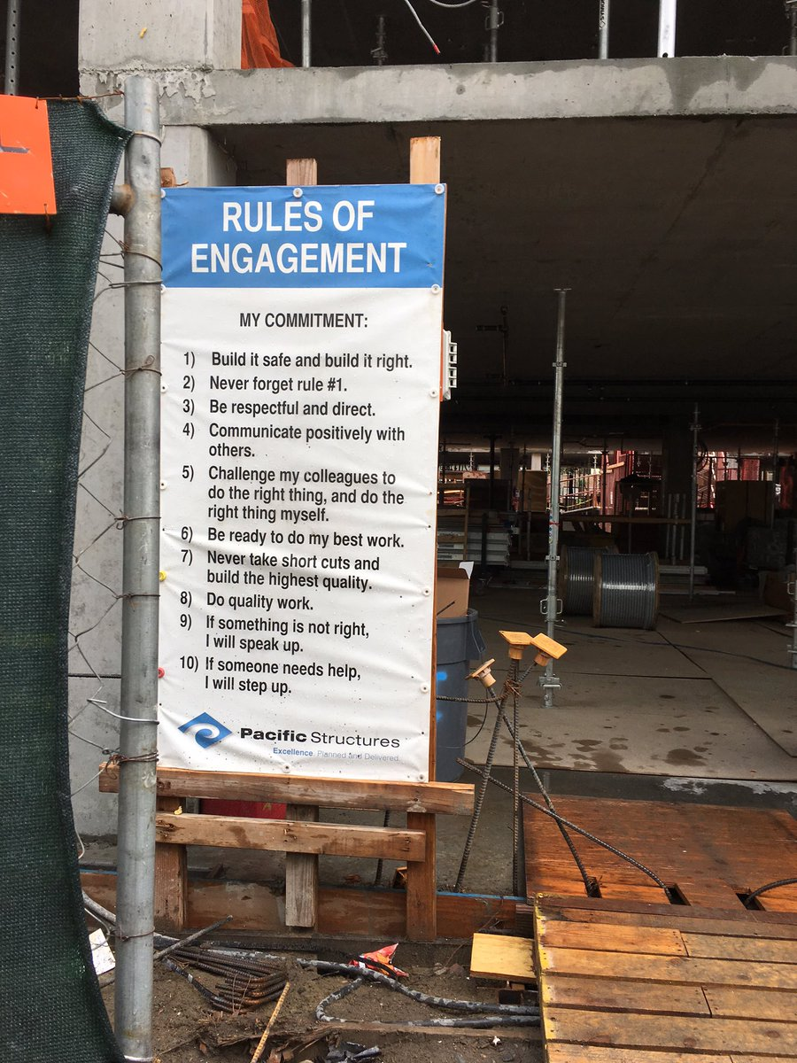 Rules of Engagement for a SF construction team are good for any team. https://t.co/7CxAr29HEY