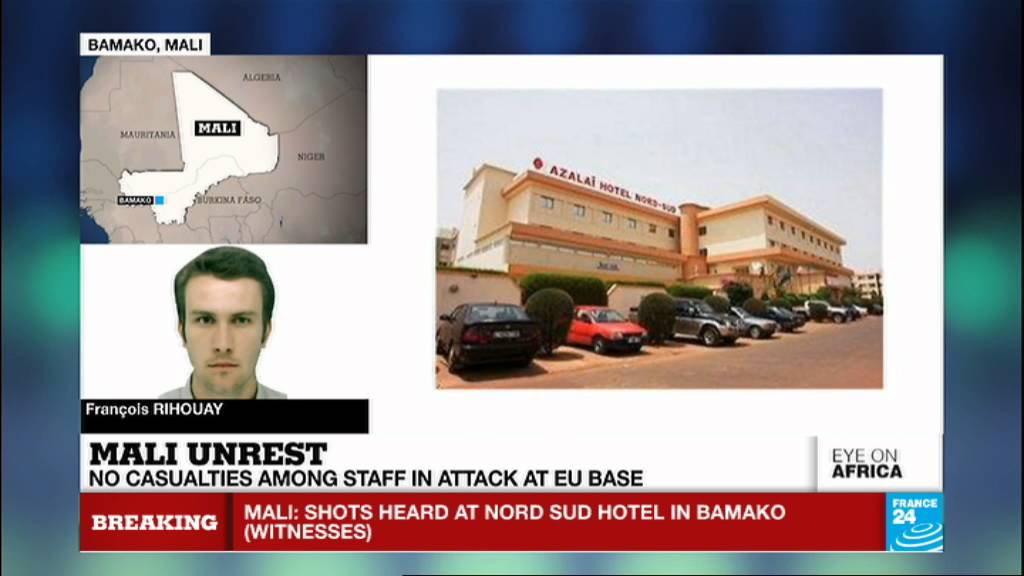 VIDEO -  Mali: terror attack on Bamako European Union military base