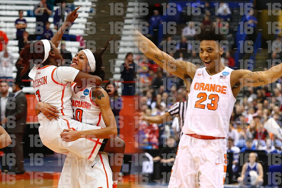 It's official, Syracuse is one of two schools nationally to have its men and women's teams both in the Sweet 16. https://t.co/OBfr6wwNgD