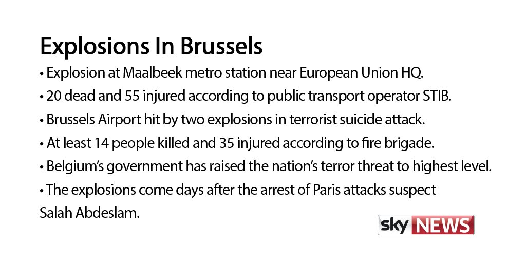 Here's what we know so far about the #Brusselsattack in #Maalbeek and Brussels Airport https://t.co/Ra3OrEP1Aq