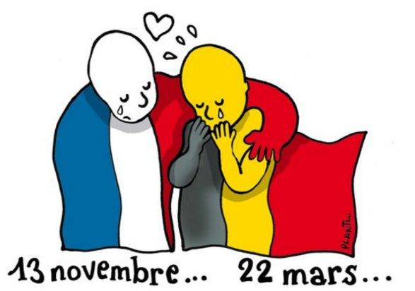 #Bruxelles : le dessinateur @Plantu rend hommages aux victimes des attentats. #22mars