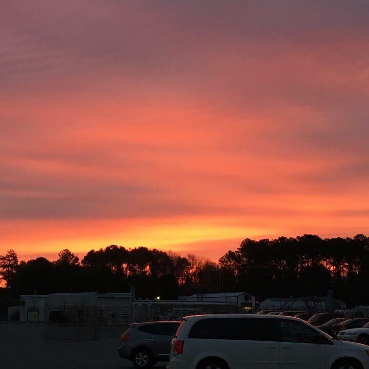 #Sunrise at Patuxent Naval Air Station this #morning from Jessica Lyman
