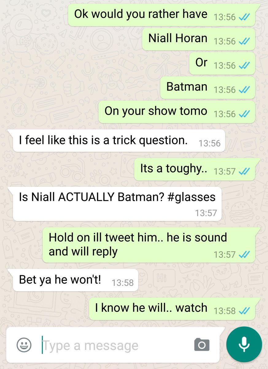 @NiallOfficial hey man.... prove @FaolainLuke wrong there.. are you batman? https://t.co/kYlefBLscj