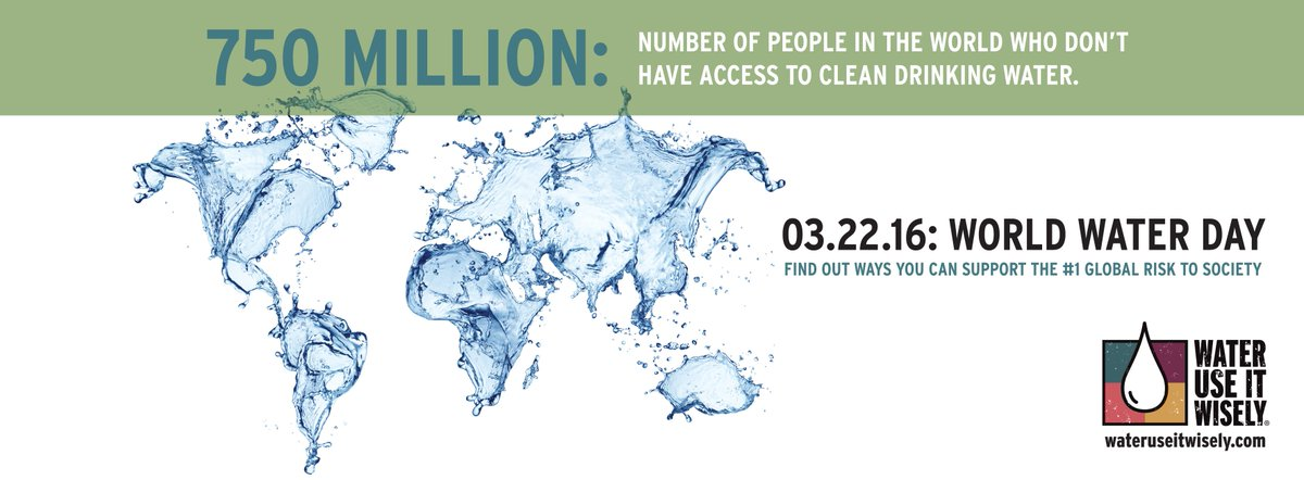It's World Water Day today! https://t.co/08rganYUCu  To support https://t.co/lfR6fZ1OXN  #waterday #wateruseitwisely https://t.co/SGhAstE5JV