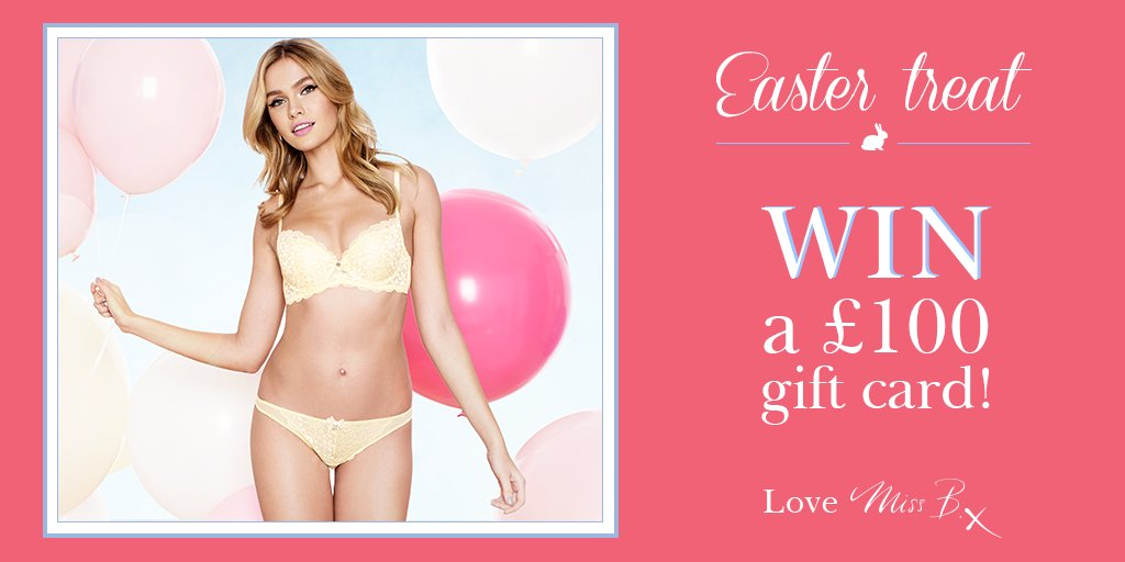 Easter #competition! To #win a £100 gift card, simply follow us and RT. Love Miss B x https://t.co/ysrjd5dKMz