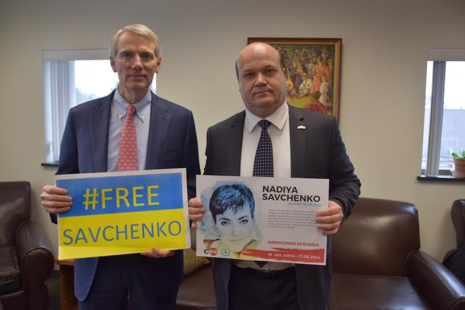 I continue to stand with Ambassador Chaly & friends of #Ukraine everywhere in urging Russia to #FreeSavchenko. https://t.co/aZVbfwiHAS
