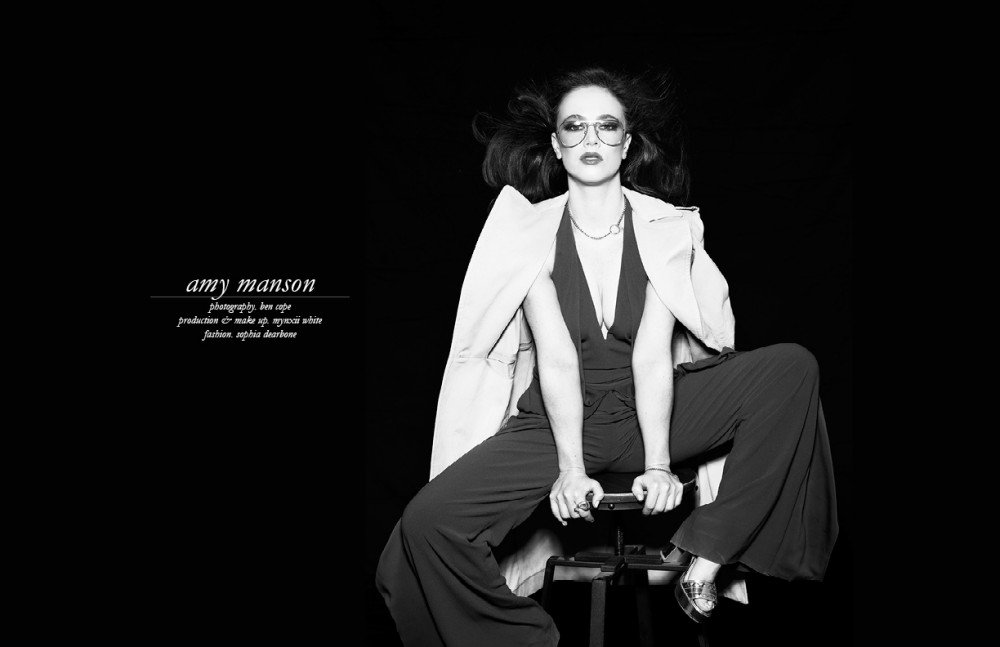 .@AmyMansonLondon channels '70s glam in #Halston for @SchonMagazine . Explore Halston > https://t.co/DBF3GFy08n https://t.co/i3Y5N0lUWX