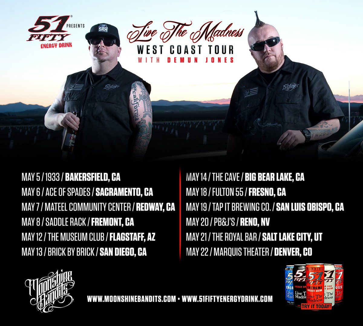 Our West Coast Tour is powered by our friends at @51FiftyEnergy  kicks off this May! #51FIFTYENERGY https://t.co/3pWW4qRQLf
