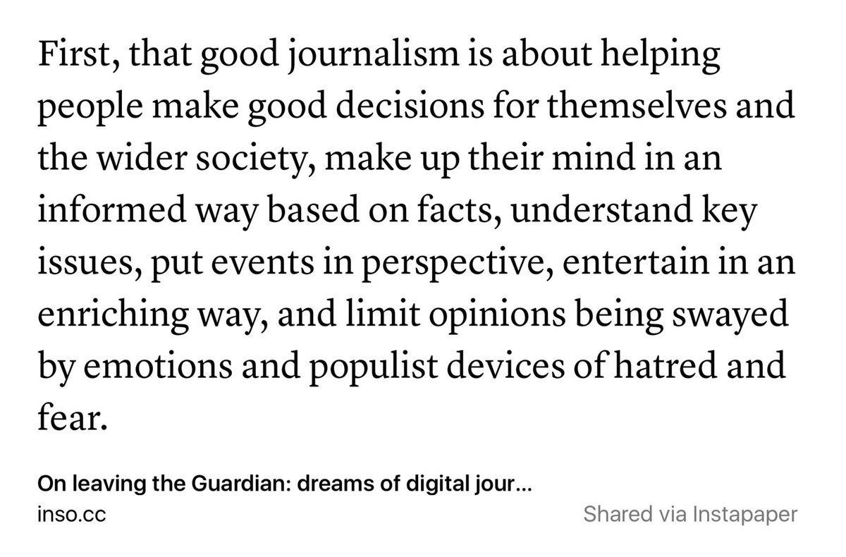 """Good journalism is about helping people make good decisions..."" https://t.co/ErHOou61X9 https://t.co/Kz8E3iYCaR"