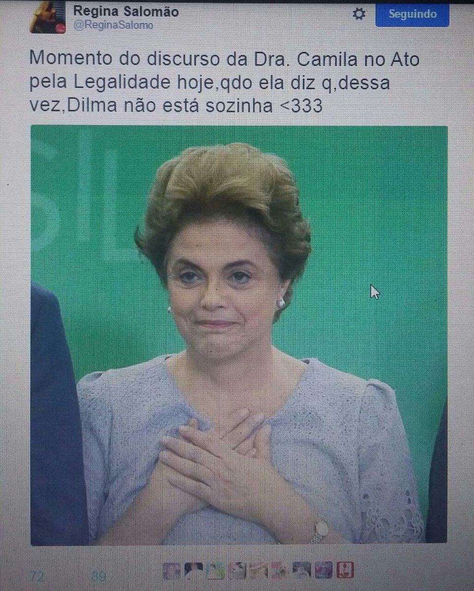 #ImpeachmentSemCrimeÉ Golpe!   Dilma, você não está sozinha.
