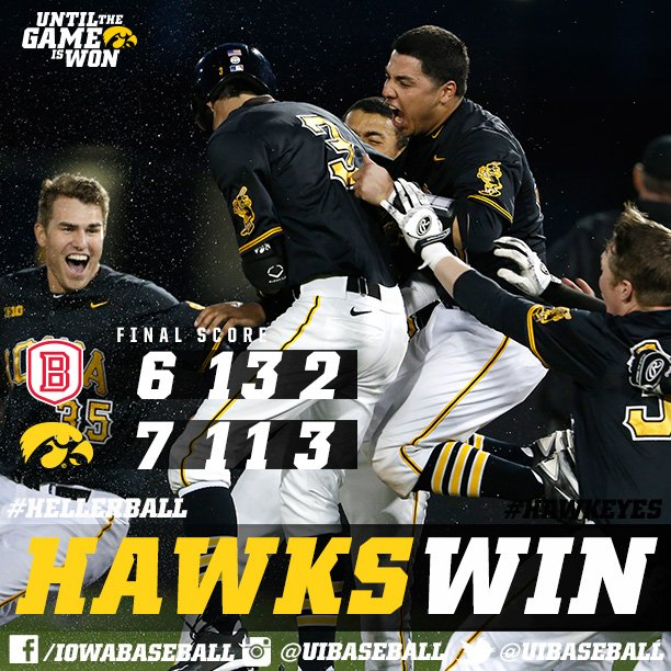 #Hawkeyes Win!  #Walkoffs are fun! https://t.co/G3k9oNhTWE