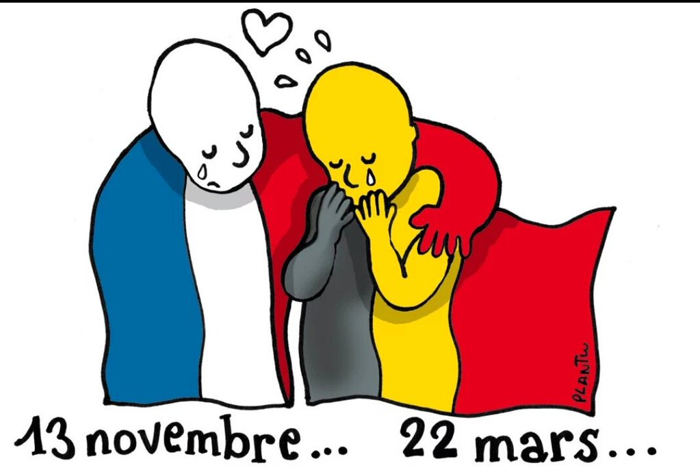 The World unites … sending love to those effected by the #BrusselsAttacks  ❤️