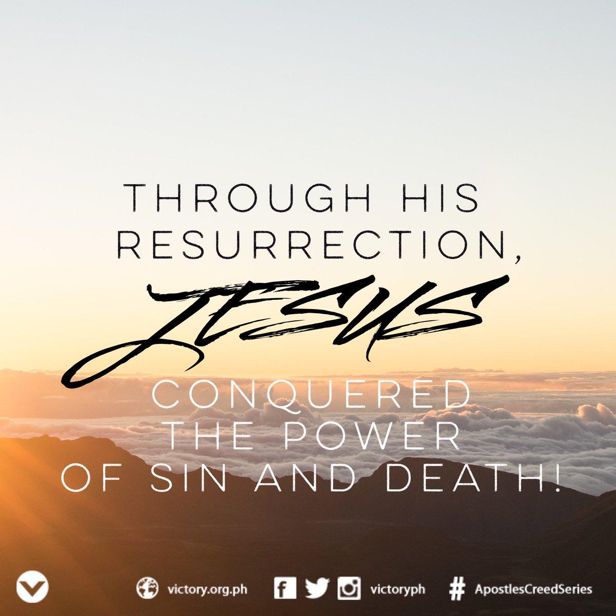 """'He is not here, but has risen.'"" (Luke 24:6)  #ApostlesCreedSeries https://t.co/9TrM3tEilb"