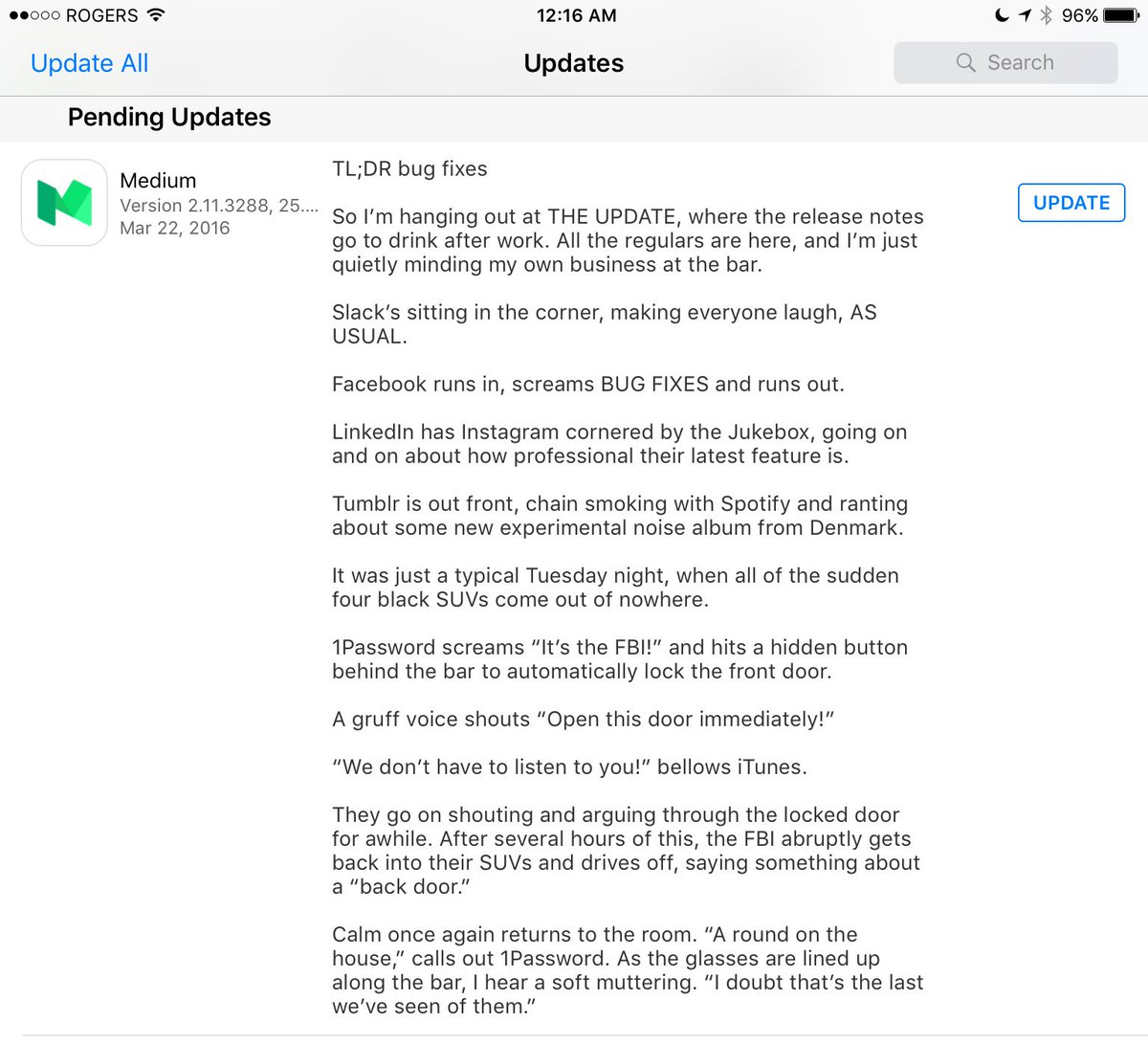 Do we have App Release Notes Awards yet? I think @Medium wins them this year. https://t.co/jw836ww6BC