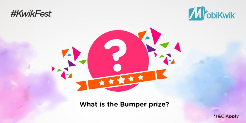 Q.2 What is the bumper prize for #KwikFest participants? *Hint* - You can drive it home ;)  https://t.co/jdYAPaOtmg https://t.co/3qJZDO4Ams