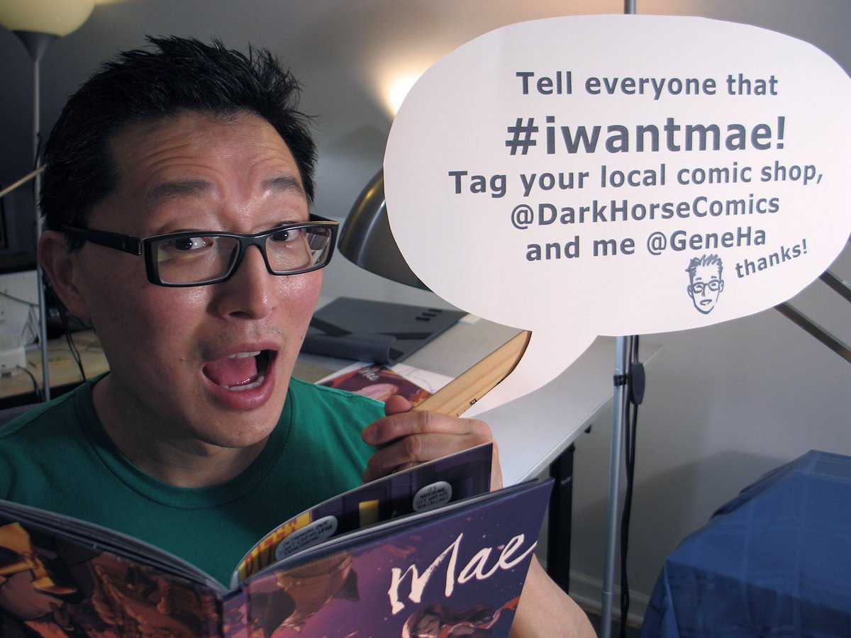 Some shops don't know MAE! Tell your local comic shop & Twitter #iwantmae! Tag your LCS, @GeneHa & @DarkHorseComics. https://t.co/VG7LUxx8Mx