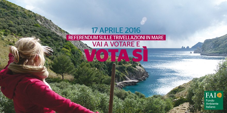 Il 17 aprile vai a votare al #referendum sulle trivellazioni in mare e vota SÍ! https://t.co/tdFHLk1siC https://t.co/q5U1TMc3Yi