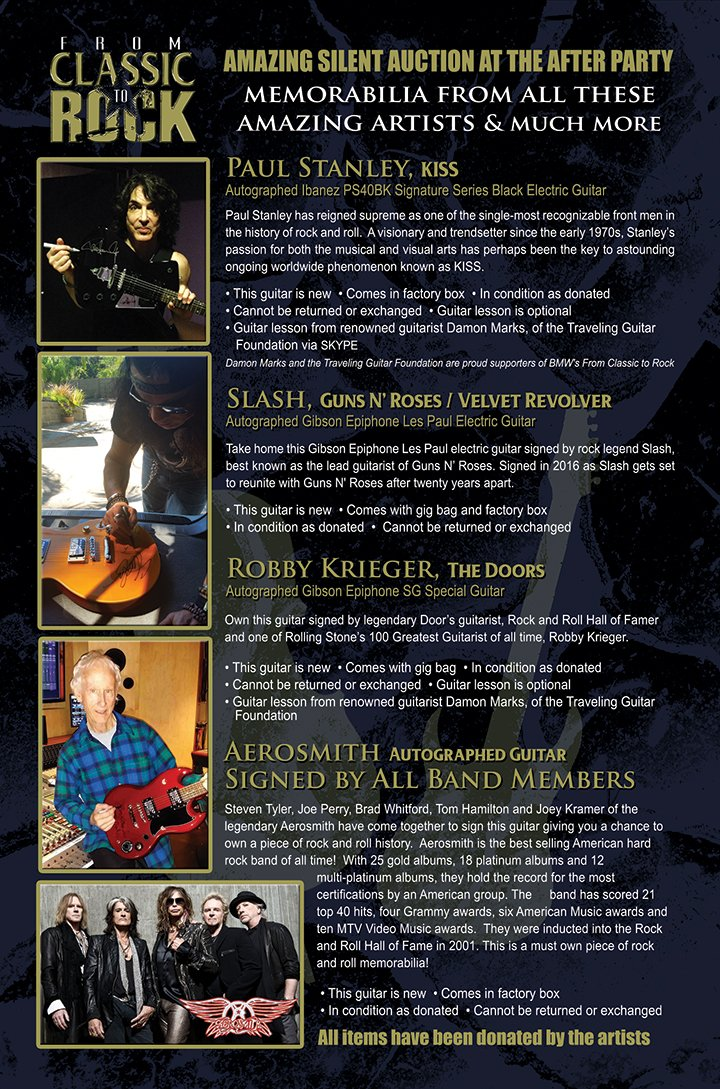 Incredible musicians coming together to benefit Palos Verdes school district. Check out these amazing auction items! https://t.co/x6hChDStBE