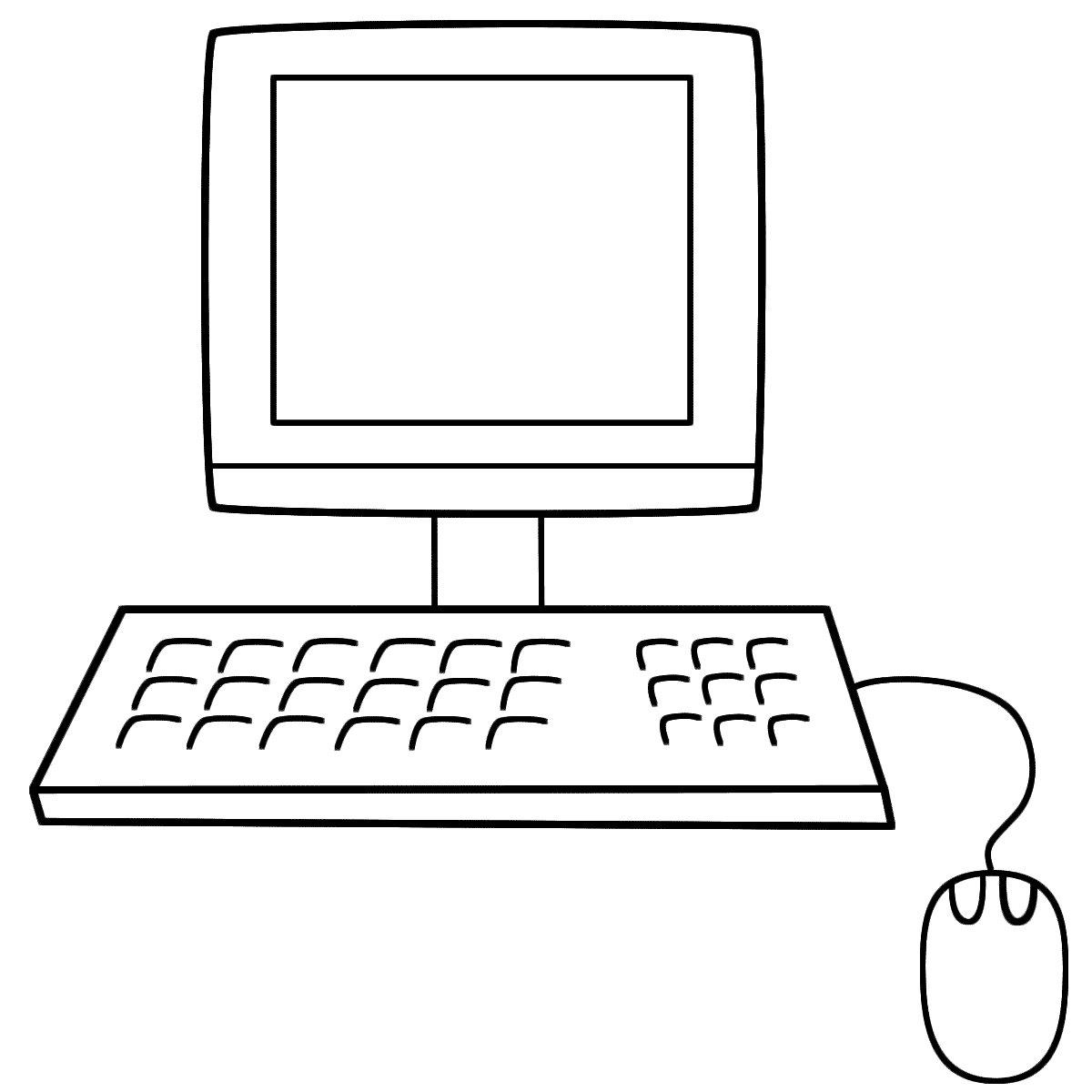 Картинки компьютера раскраска