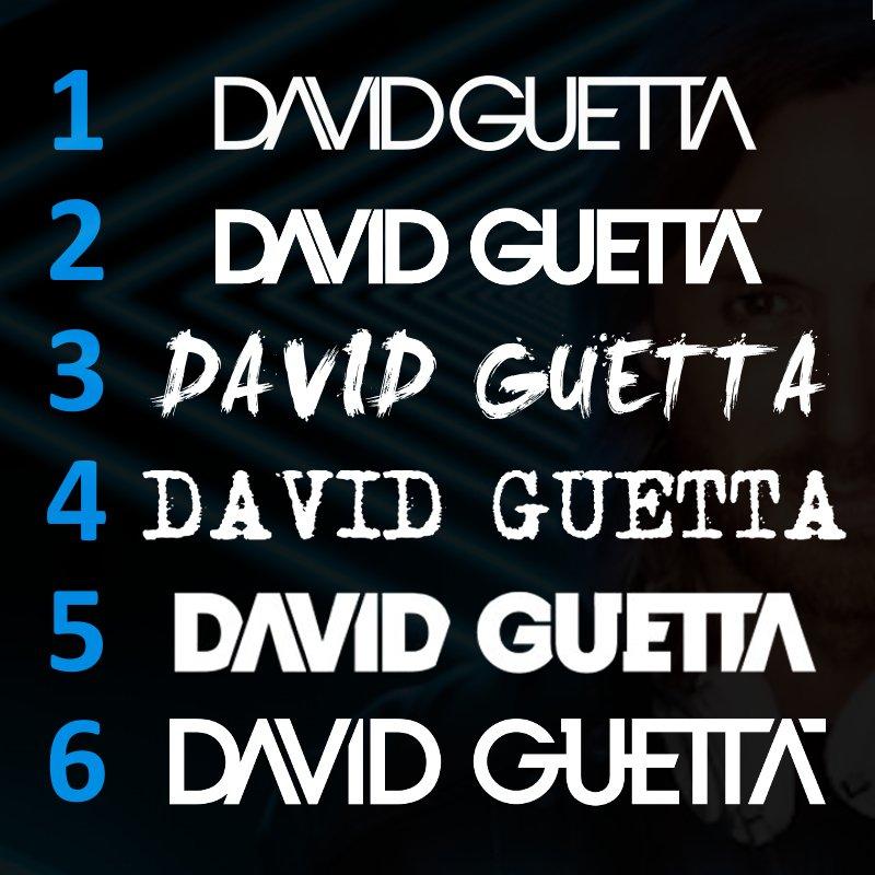 "A evolução das logotipos de @davidguetta. ""Logo evolution"" by DGBR. #davidguetta #edm #music #legend #dgbr https://t.co/x5fiy9Pigh"