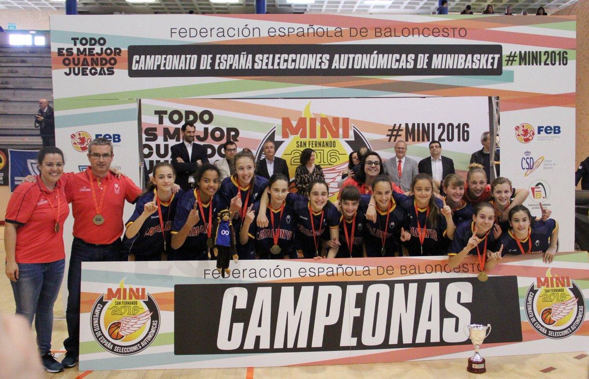 #CatalunyaBQ Mini Femenina CAMPIONA del #Mini2016 Felicitats noies!  https://t.co/YYzeVRqfDr https://t.co/pSAiiFkQl8