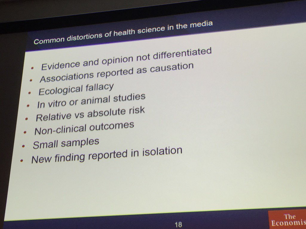 Reasons why the media do badly in reporting health stories. #Healthheadlines https://t.co/ciOKYl1lxN