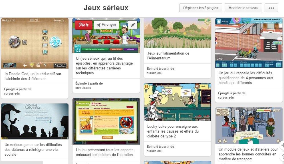 Nous venons de mettre à jour notre Pinterest Jeux sérieux https://t.co/1GeNj6UmkK 177 #seriousgames , enjoy ! https://t.co/UM4m6cmIJy