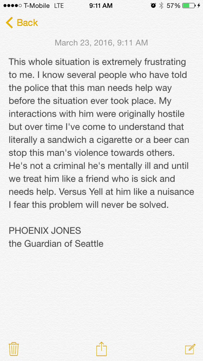 Thank you for the support I just hope that @SeattlePD remembers this guy is not a criminal https://t.co/I0XeOUkA06