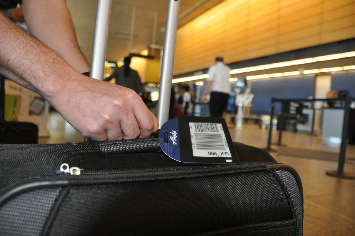 The future of travel could be electronic bag tags. See how we're testing this new technology