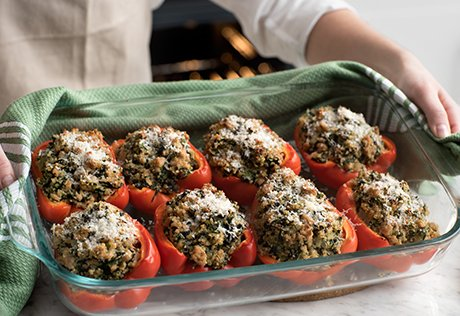 @Fruits_Veggies Try our Chicken & Quinoa Stuffed Peppers for a fun plate: https://t.co/BImyupErbI #HealthyVeggies https://t.co/czXRBExNXA