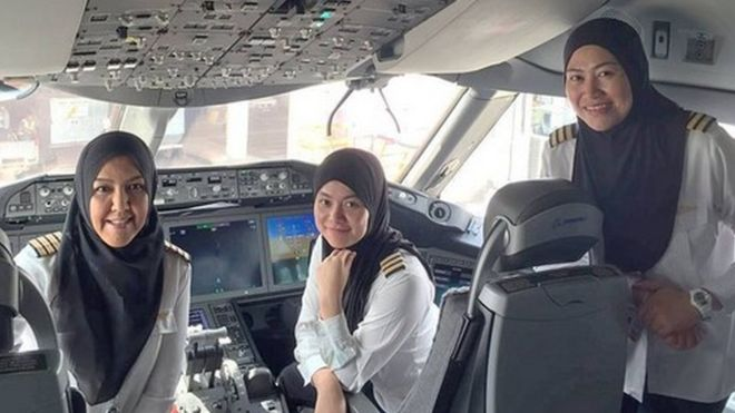 ICYMI: All-female flight crew make historic landing in Jeddah - where women can't drive: https://t.co/G4rNdZBF8B https://t.co/h2hi4TGCDG