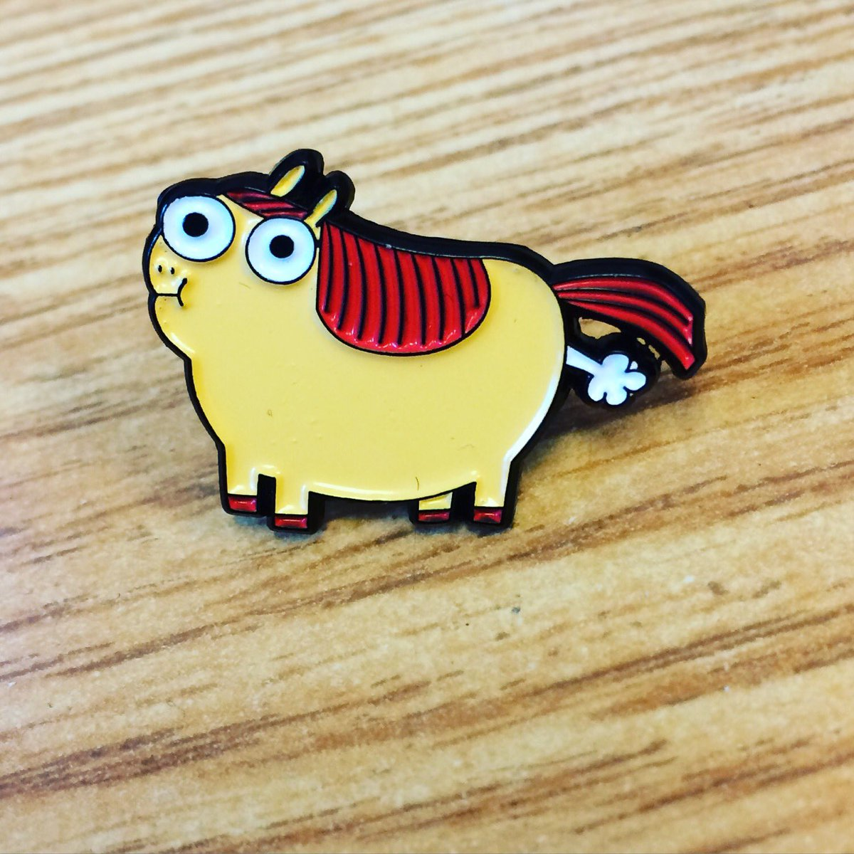 Oh my what's this?! A brand new Enamel Pin featuring @beatonna's Fat Pony? AND HE'S FARTING? In store NOW?! https://t.co/DunBq2kZT1