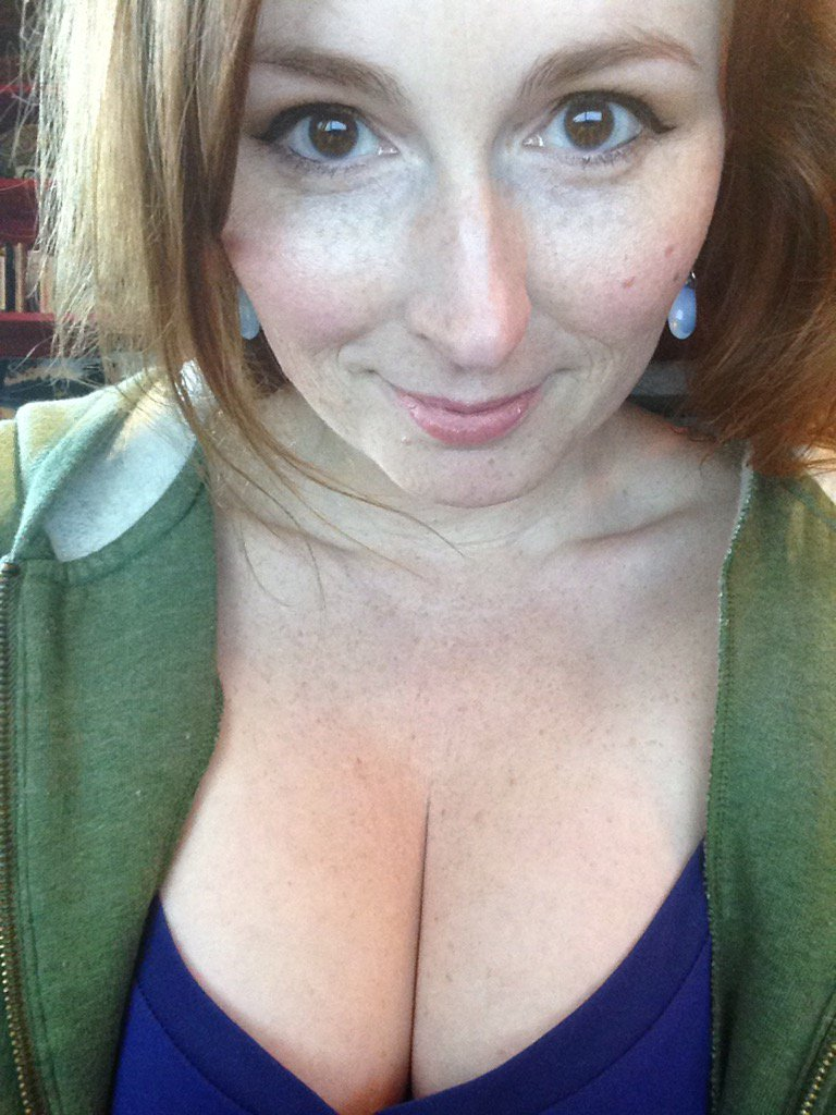 Boo! I actually put makeup on today! #cleavage #redhead 7yjBX7DPrY
