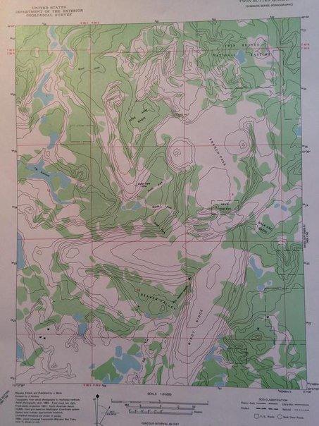 Топографическая карта o37-052-1 в окрестностях борок, противье
