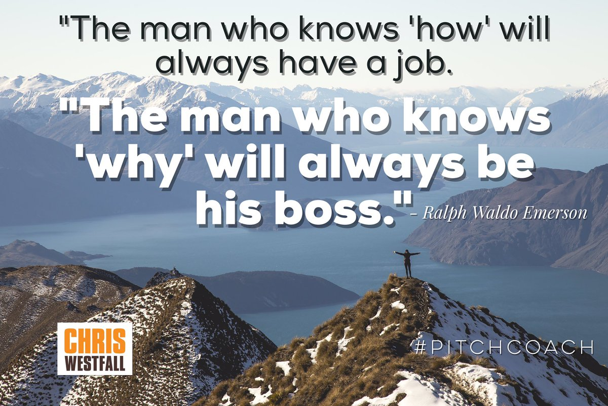 """The man who knows 'how' will always have a job. The man who knows 'why' will always be his boss."" - Emerson #quote https://t.co/itIW5gAjOg"