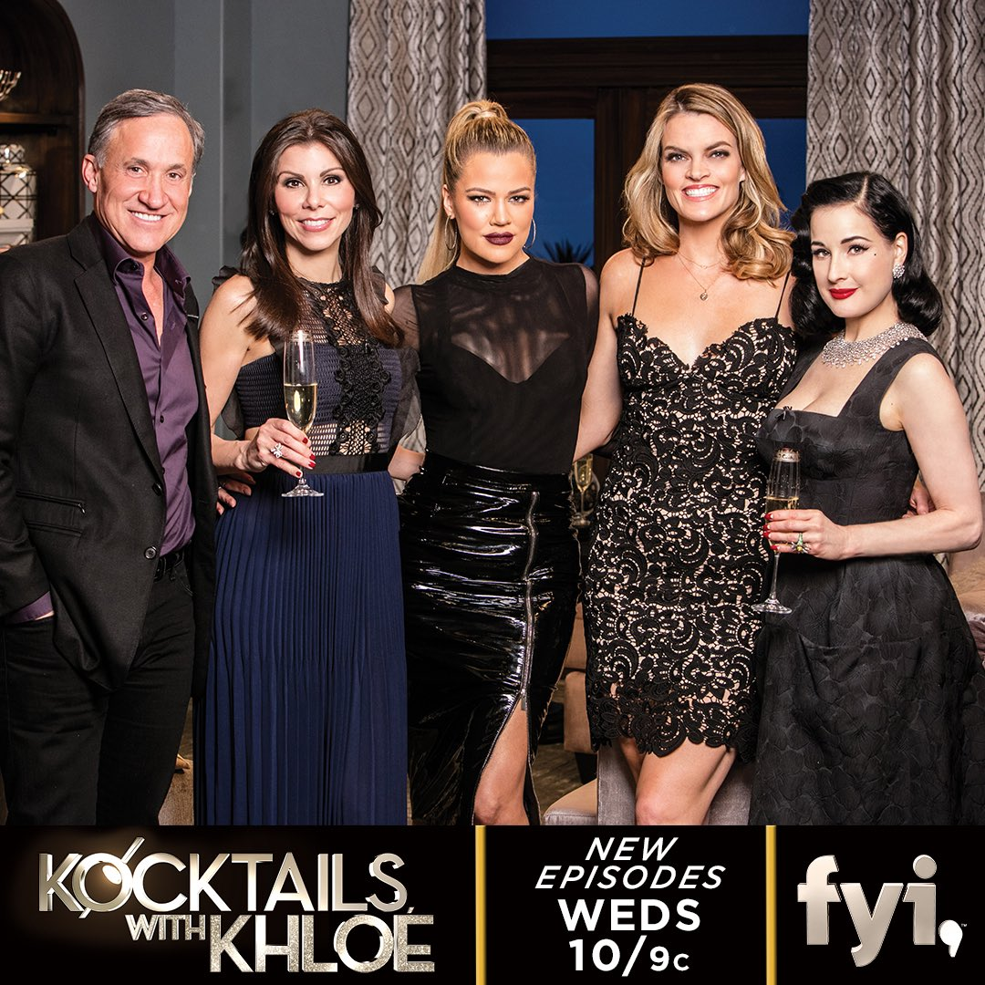 One hour until #KocktailsWithKhloe with my guests @DrDubrow @HeatherDubrow @missipyle and @DitaVonTeese ???? https://t.co/yEswpDiC74