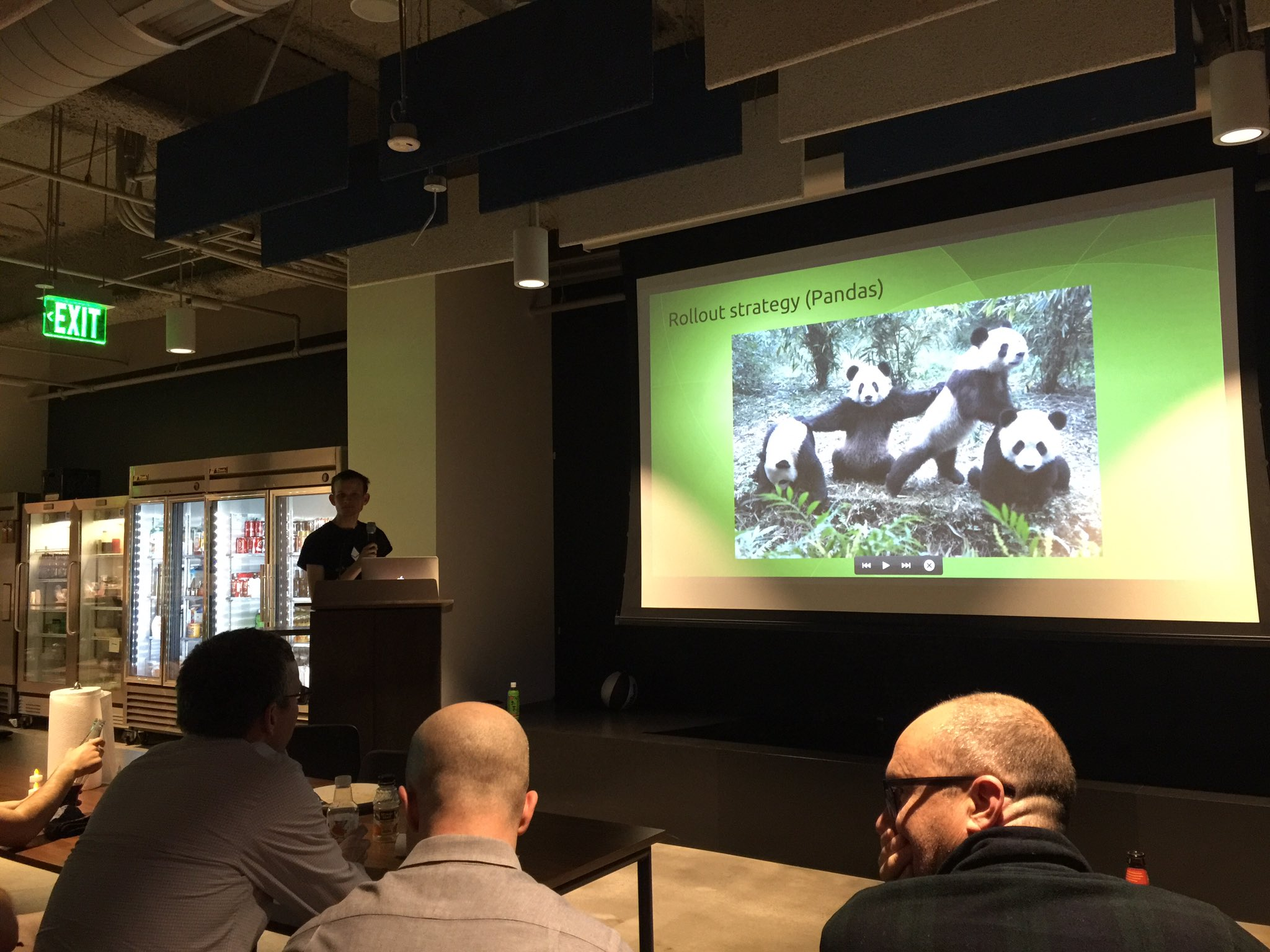 .@VitalikButerin talking #ethereum at @coinbase HQ. And Pandas! https://t.co/gTP5l6IUm0