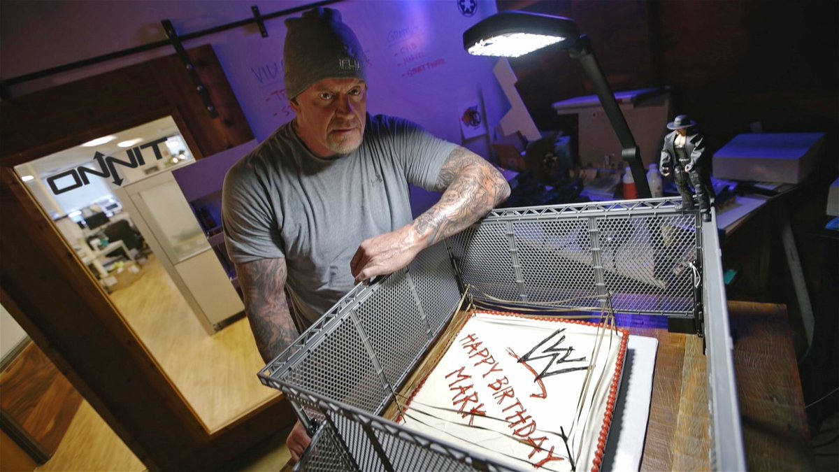 Happy Birthday to our friend The Undertaker! Hope you enjoyed the hell in a cell cake. #wwe #wrestlemania #GetOnnit https://t.co/c987xZCyUh