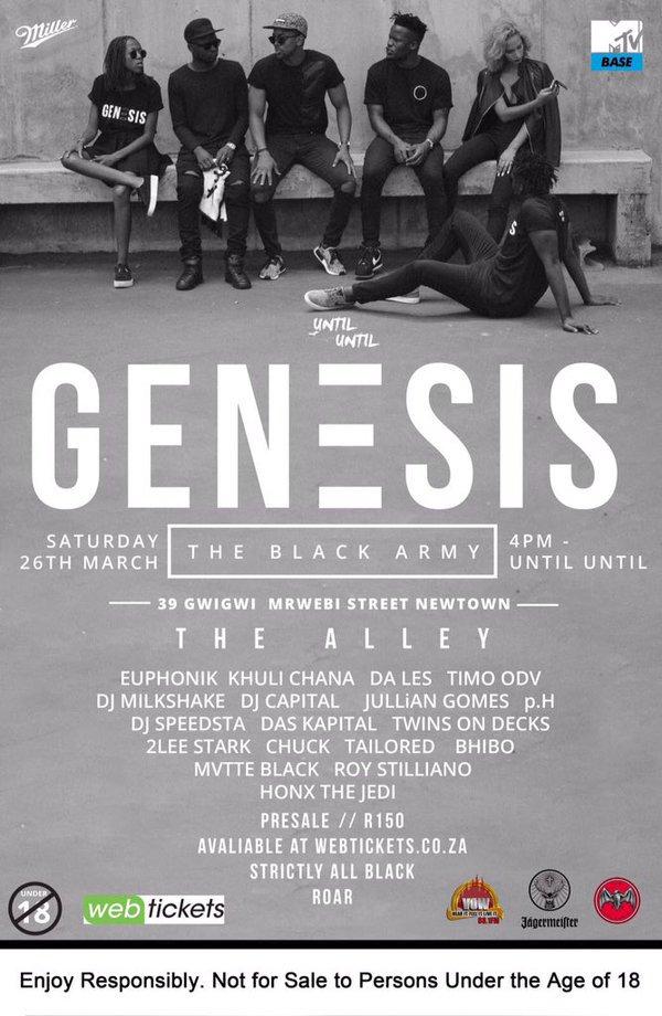 Your ticket to @untiluntil_za #GenesisAllBlack lies in the power of your retweets. RT this tweet to WIN. Let's go! https://t.co/zT2FCXmcnK